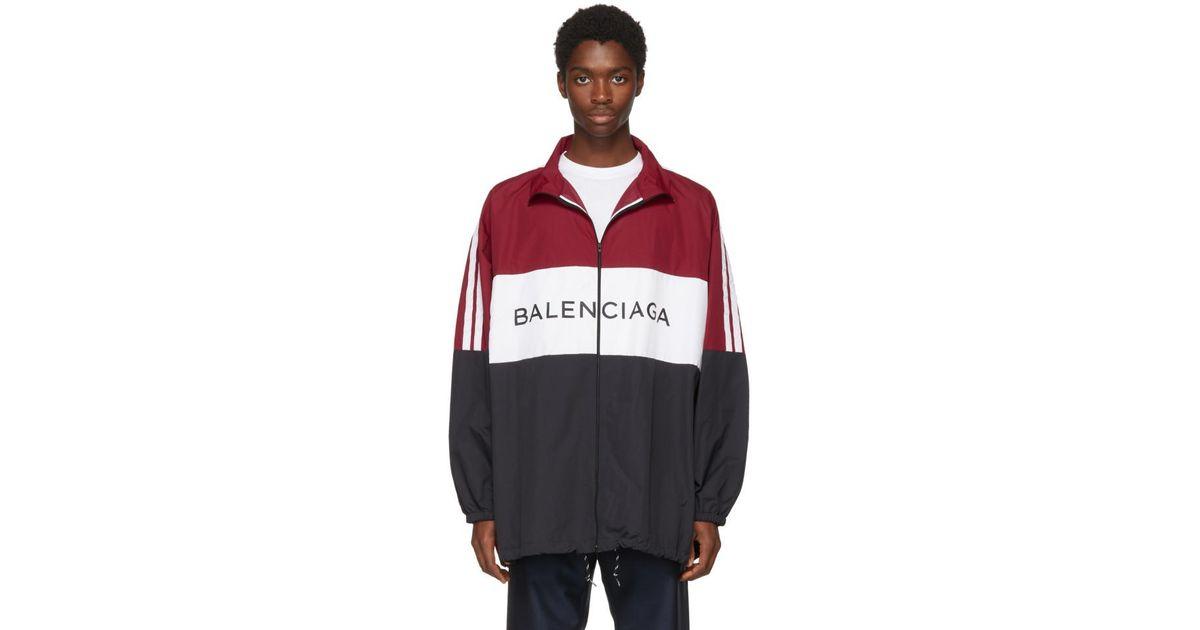 la meilleure attitude 4f16f 9dbbf Blouson de survetement a logo noir et rouge Balenciaga pour homme en  coloris Red