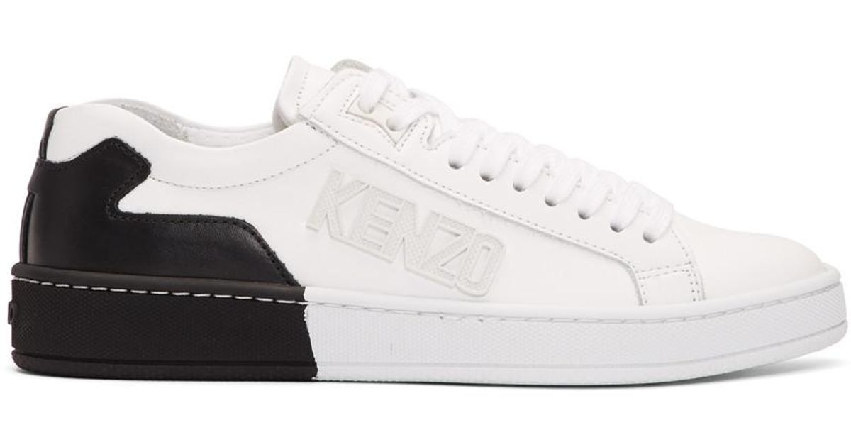 53002c02d KENZO Two-tone Sneakers in White - Lyst