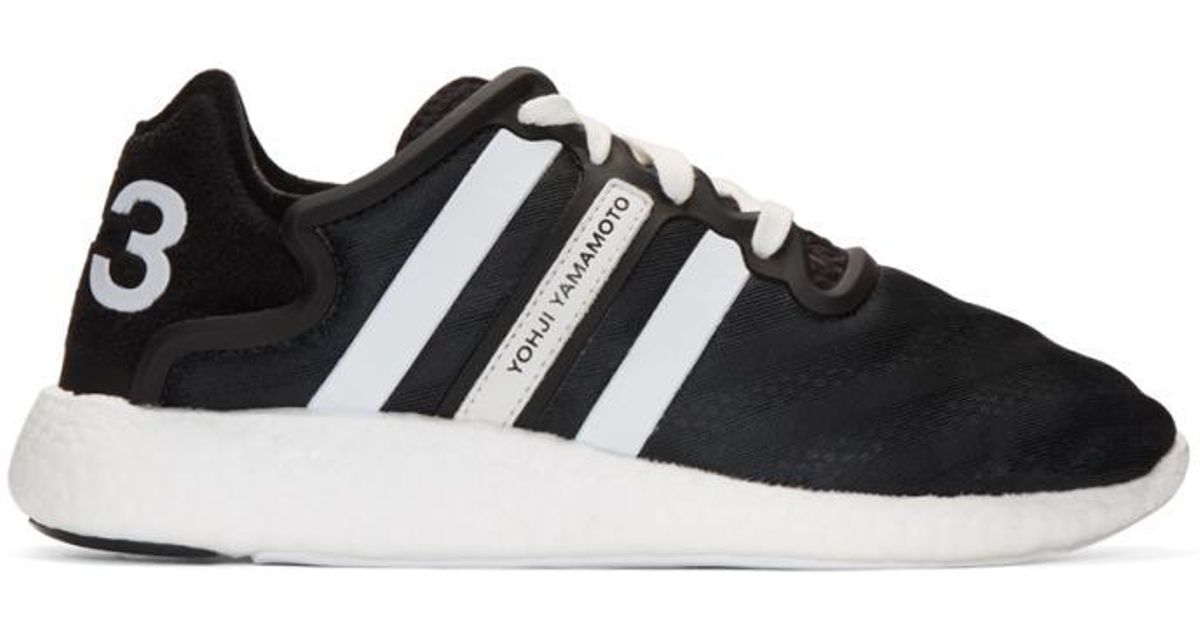71a6616fc5906 Y-3 Black Yohji Run Boost Sneakers in Black - Lyst