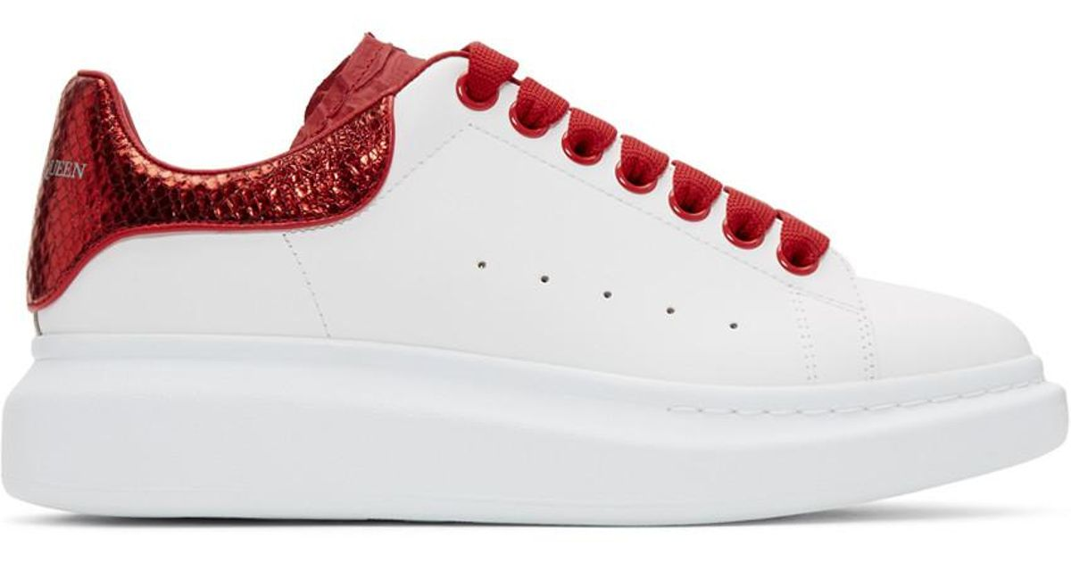 Alexander McQueen White And Red Python