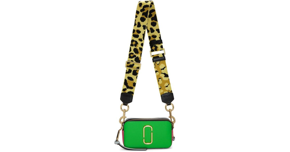 Marc Jacobs Green And Pink Snapshot Bag