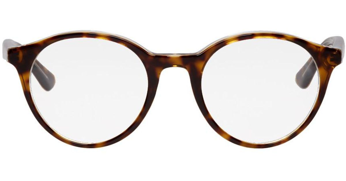 differently various styles clearance prices Lunettes ecaille de tortue Highstreet Ray-Ban pour homme en coloris Brown