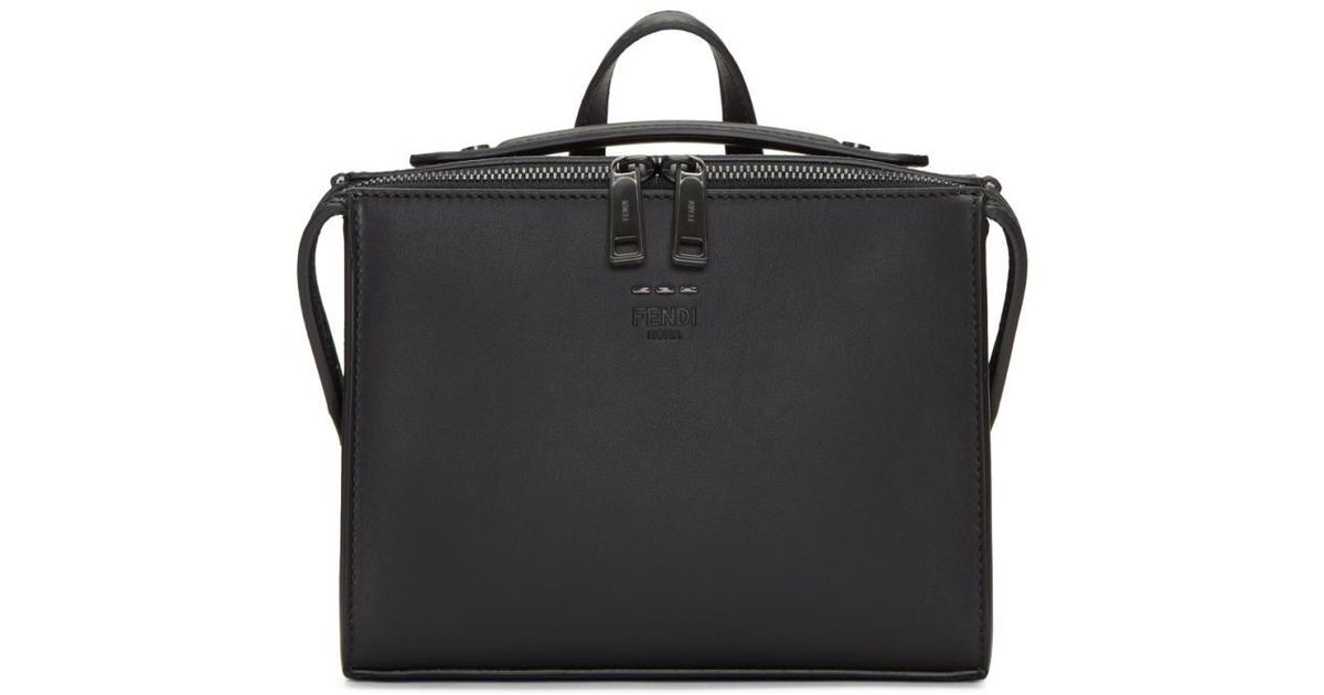 a6bc6c364e66 Lyst - Fendi Black Mini Messenger Bag in Black for Men