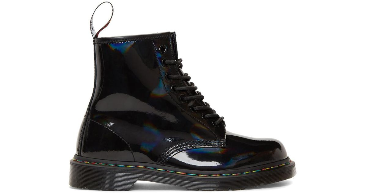 a79d0d845b30 Lyst - Dr. Martens Black Rainbow 1460 Boots in Black for Men