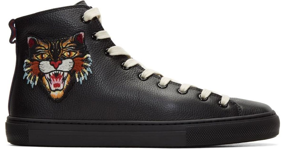 f2e5d6d992 Gucci Black Angry Cat & Ufo Major High-top Sneakers for men