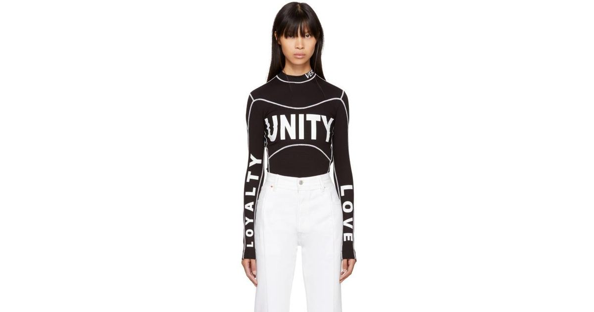 Versace Black Long Sleeve 'unity, Love, Loyalty' Turtleneck