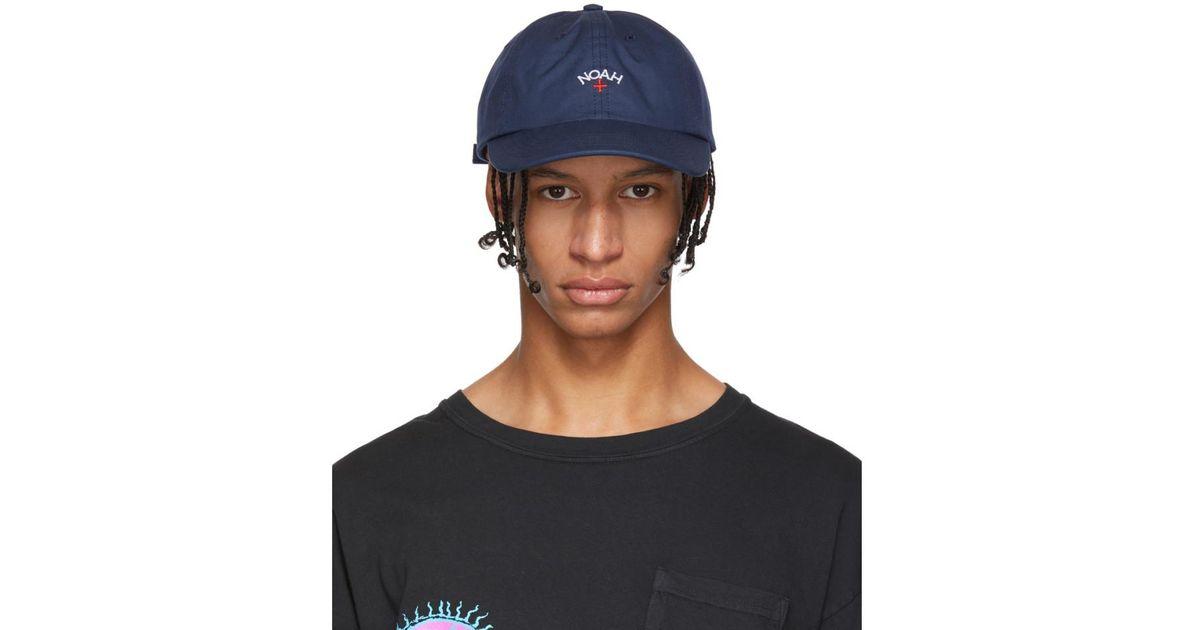 d1eb2158 Noah Navy Water-repellent Logo Cap in Blue for Men - Lyst