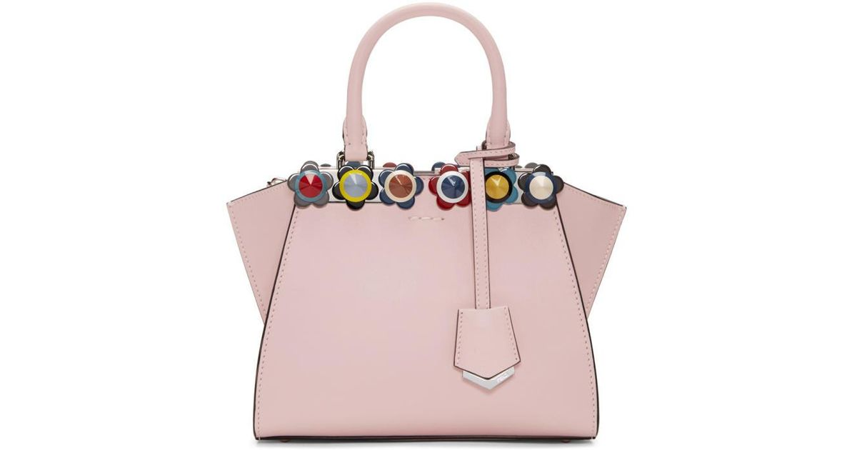Lyst - Fendi Pink Flowerland Mini 3jours Tote in Pink e0ce6838b1bcf