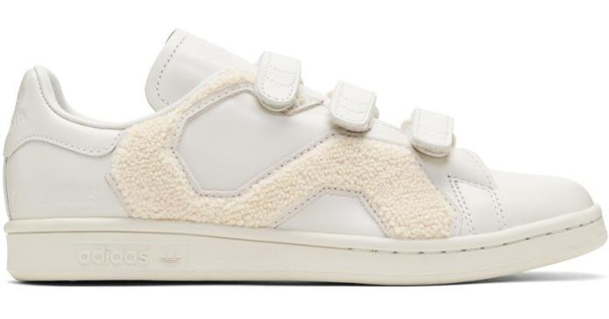 6c10f013765b Lyst - Raf Simons Off-white Adidas Originals Edition Stan Smith Comfort  Badge Sneakers in White