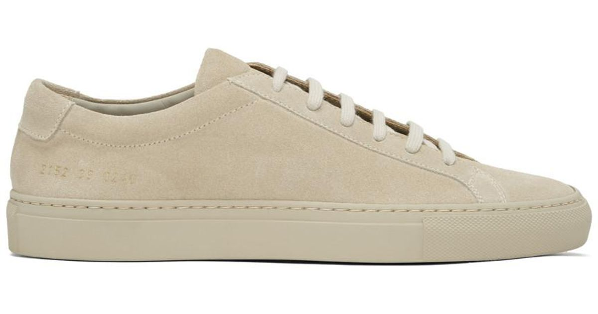 Common Projects Taupe Suede Original