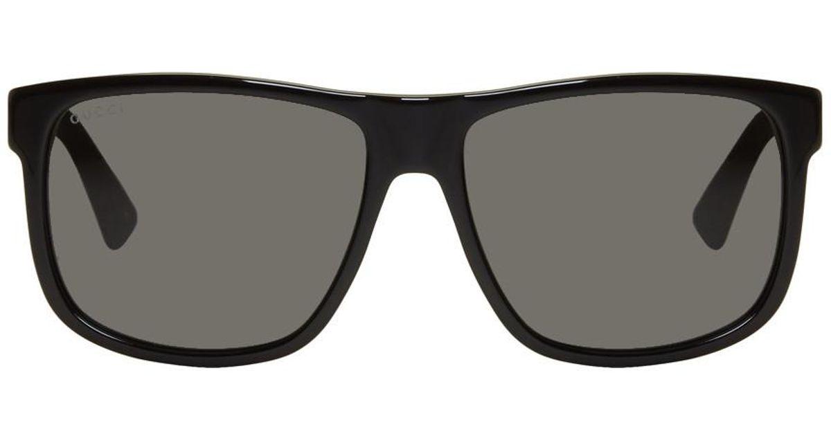 d8b40d3df6 Gucci Black Oversized Rectangular Sunglasses - Image Of Glasses
