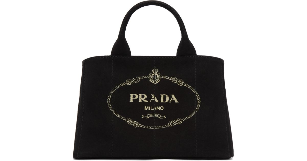 1b64c0a8ab9f Prada Black Large Gardener Tote in Black - Lyst