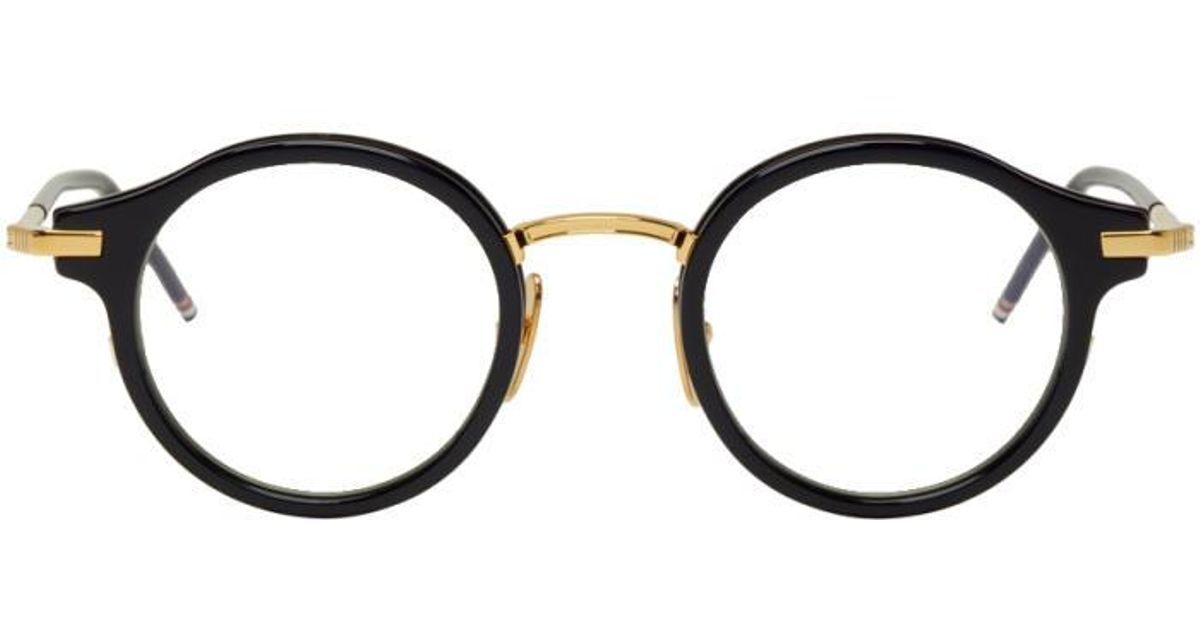 11fffc649c4 Lyst - Thom Browne Navy   Gold Tb-807 Glasses in Blue for Men