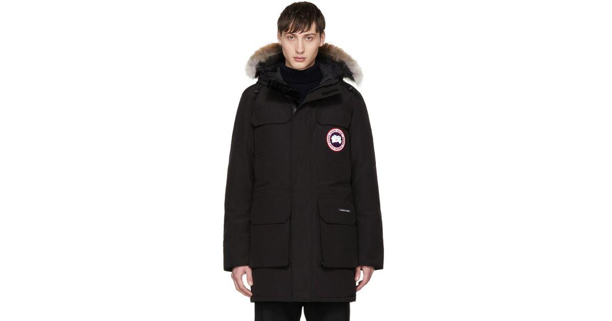 7151527449f Canada Goose Black Down & Fur Citadel Parka for men