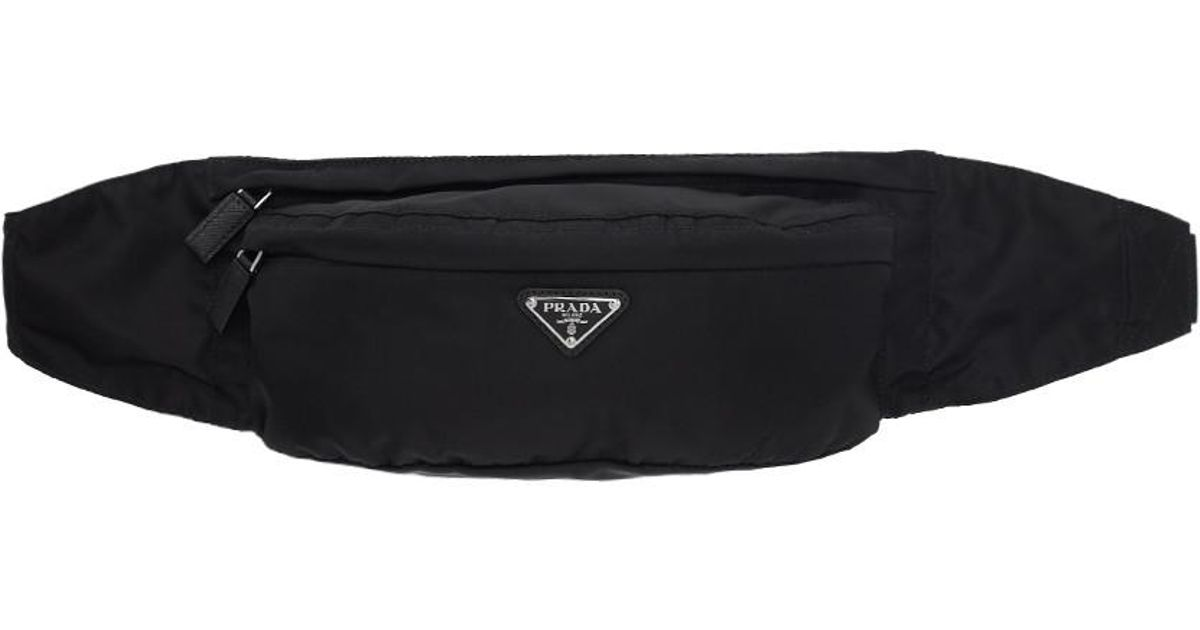 ... italy prada black nylon belt bag in black for men lyst e12e6 7f407 a25ba397ab694