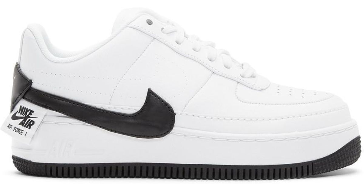 new product bb77a 4fc8f Nike White And Black Air Force 1 Jester Xx Sneakers in White - Lyst