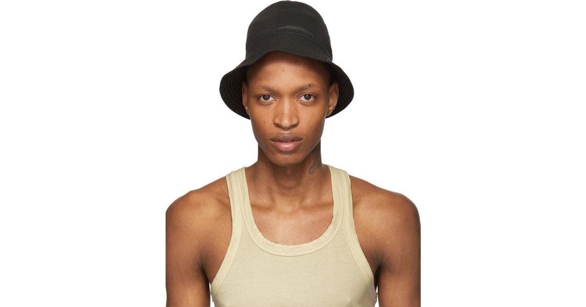 9616ca340 Rick Owens Drkshdw Multicolor Black Gilligan Bucket Hat for men