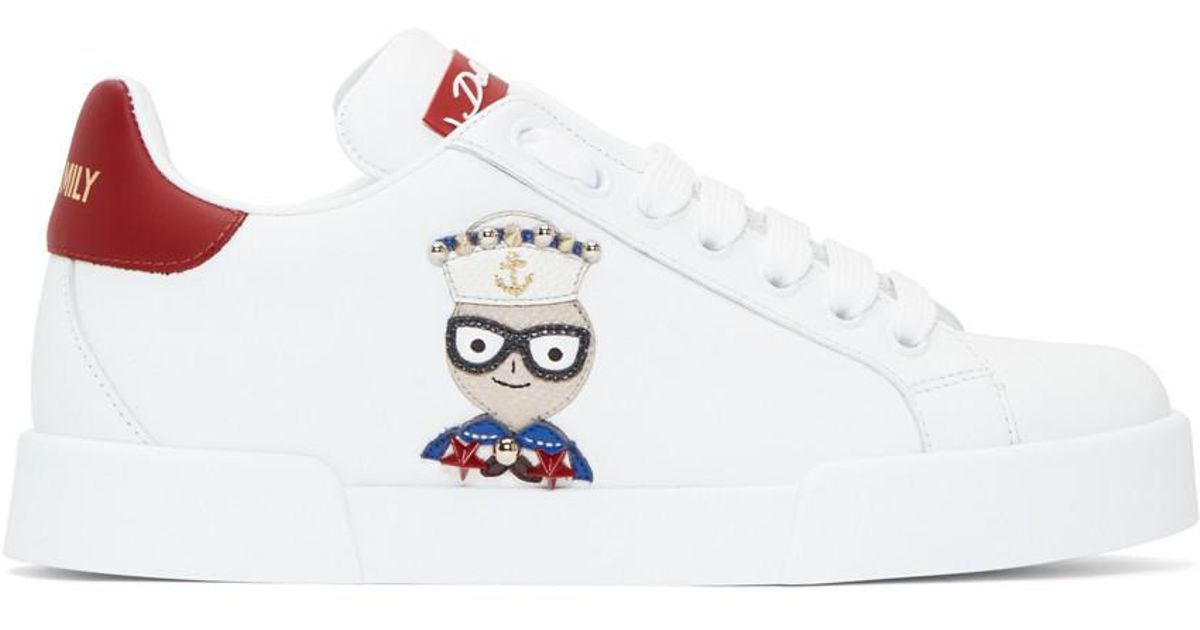 Chef Sneakers Red Dolceamp; Dg Family White Gabbana kPNXnO80w