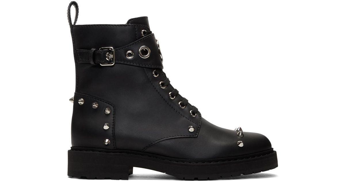 0c1c038d962 Fendi Black Lug Sole Biker Boots