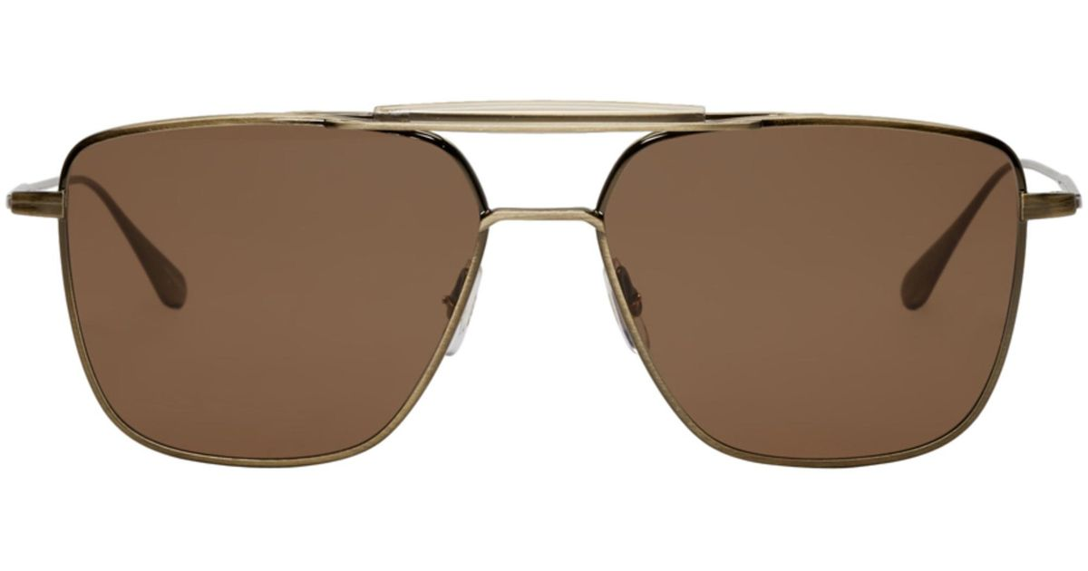 Gold and Brown Convoy 56 Sunglasses Garrett Leight