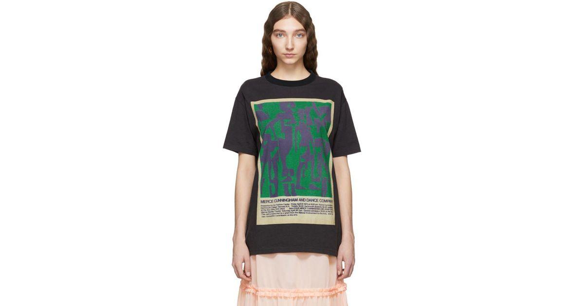 Acne Multicolor Black Esmeta T shirt Lyst