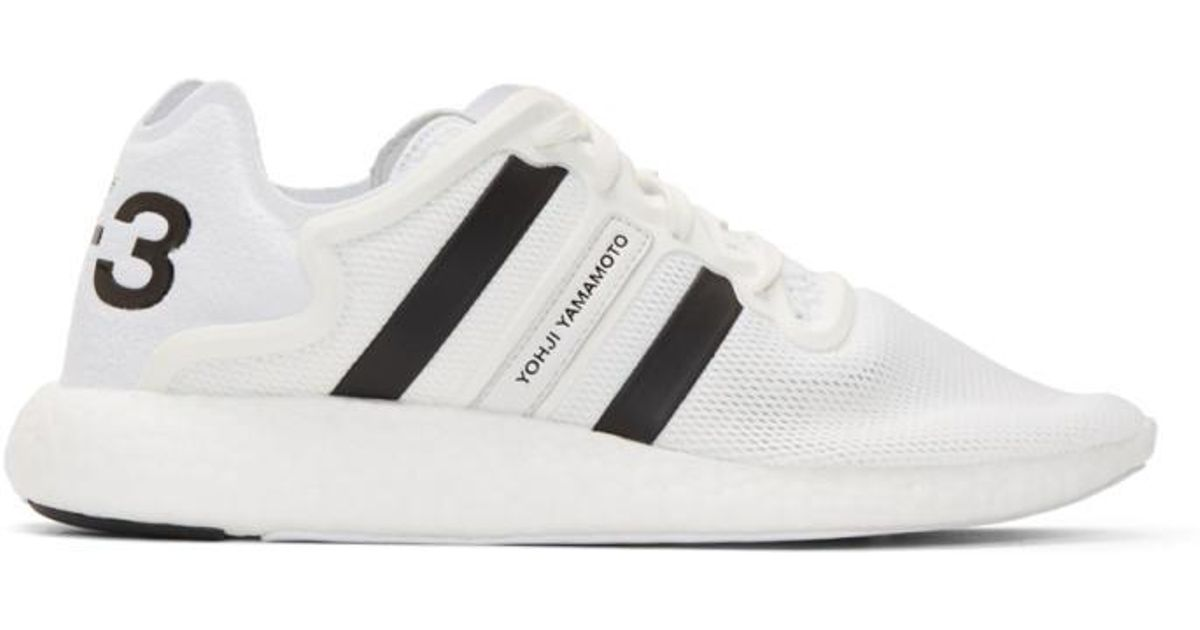 33857eb6256cc Lyst - Y-3 White Yohji Run Boost Sneakers in White