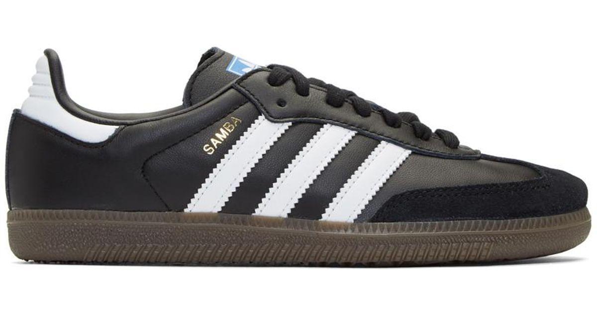 Lyst adidas Originals Samba og zapatillas negro en negro para hombres