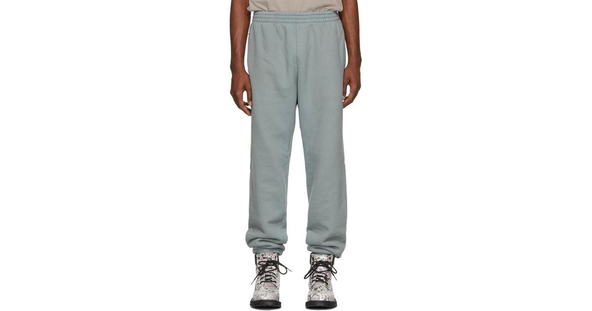 065d68d46 Lyst - Yeezy Blue Shrunken Sweatpants for Men