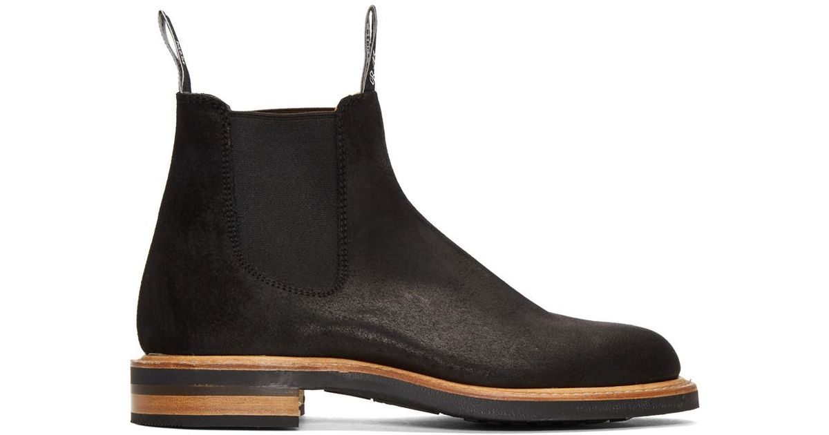 da2db5f10ff R.m. Williams Black Gardener Full Welt Chelsea Boots for men