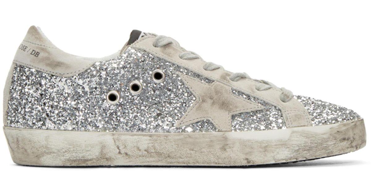 SSENSE Exclusive Silver Glitter Superstar Sneakers Golden Goose GsS3QJv