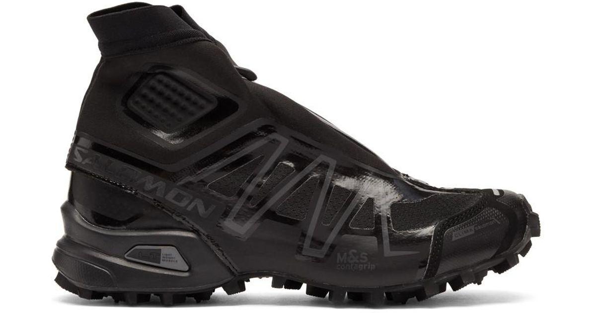check out 1c9cf a06d9 Yves Salomon Black Snowcross Adv Ltd High Top Sneaker for men