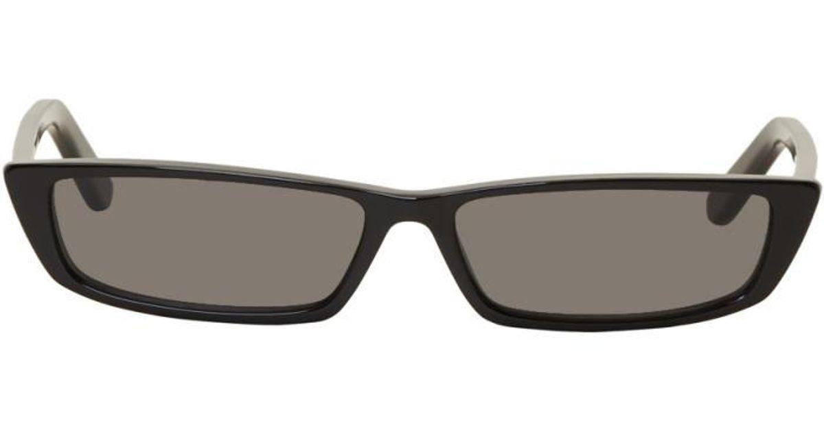 Lyst Black Balenciaga Thin In Sunglasses Rectangular A6AvqSr