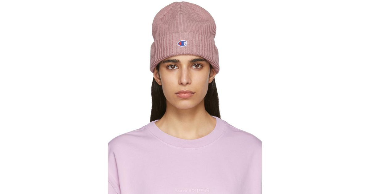 47598d10b Champion Pink Logo Beanie