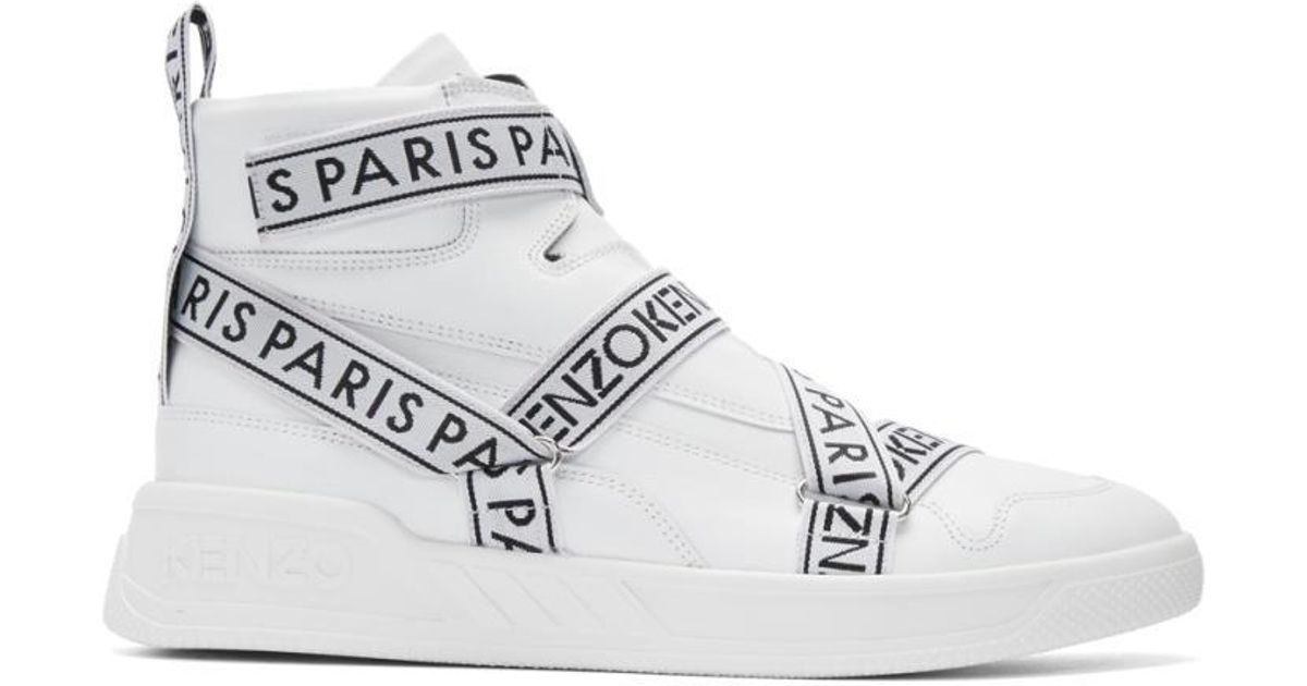 KENZO Leather White Coby High-top