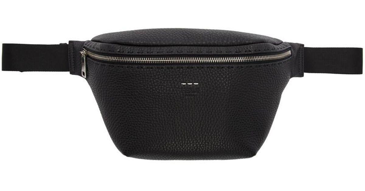 ae9d28d8e8 Fendi Black Sew Feature Belt Bag for men