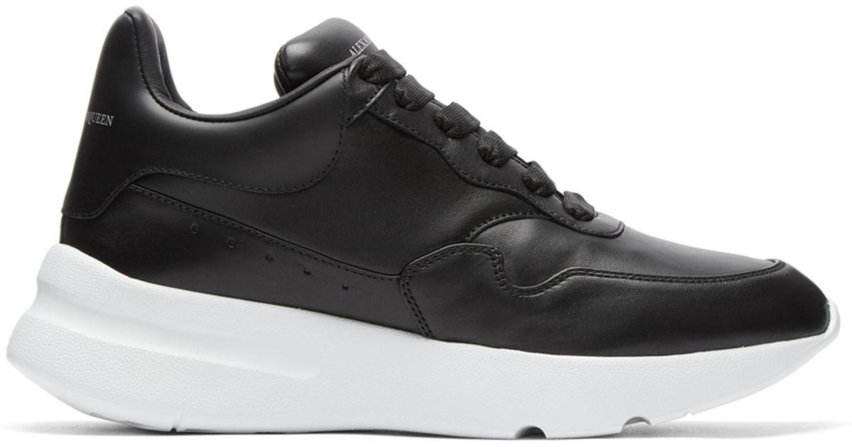 24663a51198a Lyst - Alexander McQueen Black New Oversized Sneakers in Black for Men