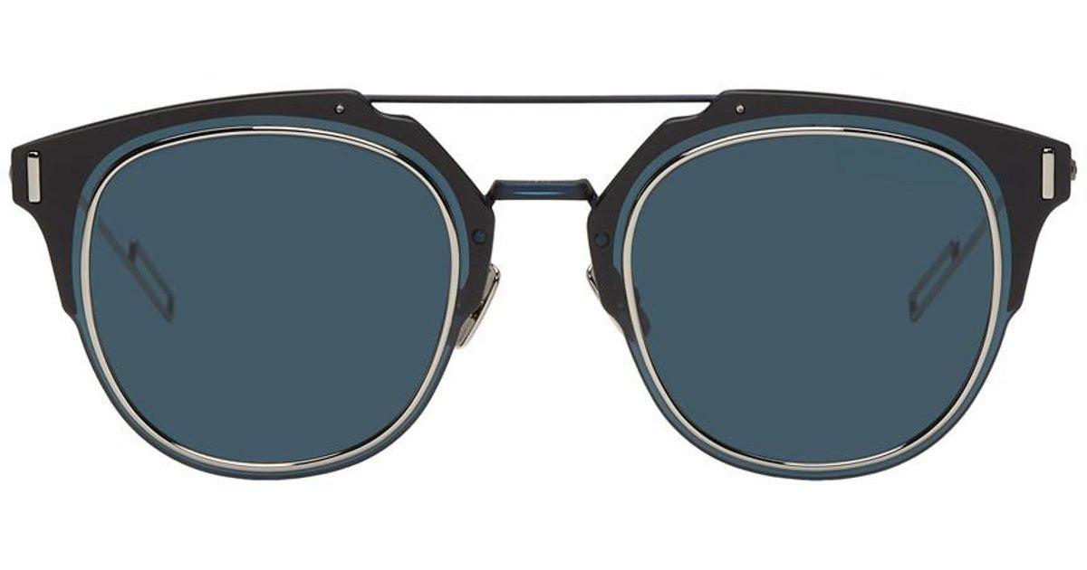 7b87c5b82a Lunettes de soleil bleu marine Dior Composit 1.0 Dior Homme pour homme en coloris  Bleu - Lyst