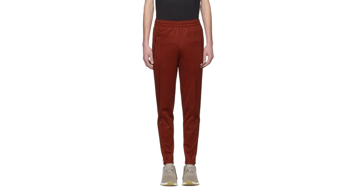 0d9fd02d10095c Lyst - Pantalon de survetement rouge Franz Beckenbauer adidas Originals en  coloris Rouge
