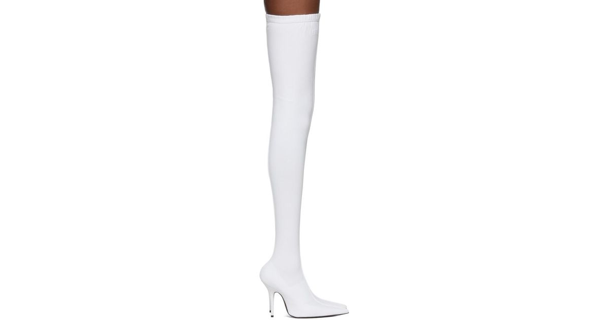 White Sock Thigh-high Boots