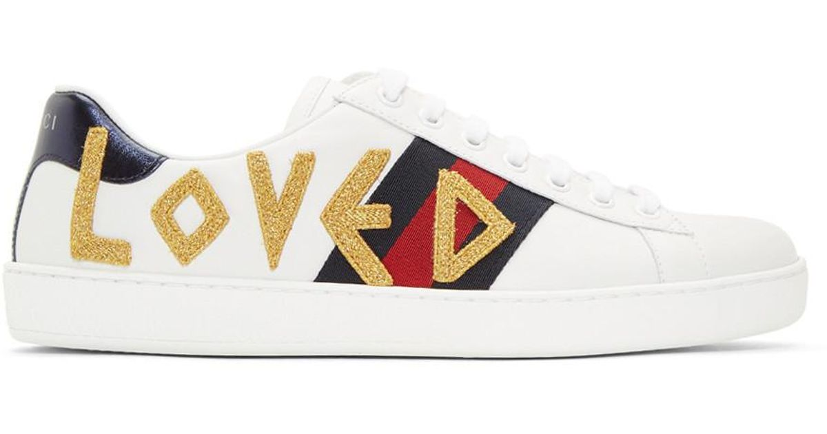 Gucci Leather White Loved New Ace