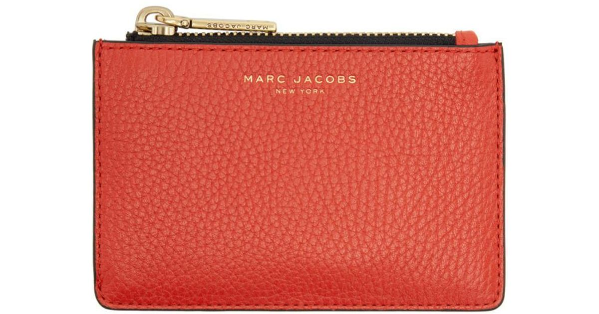 competitive price 3cd31 e9a58 Marc Jacobs Red Gotham Zip Card Holder