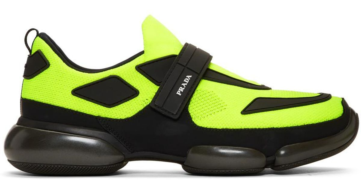 Yellow And Black Cloudbust Sneakers