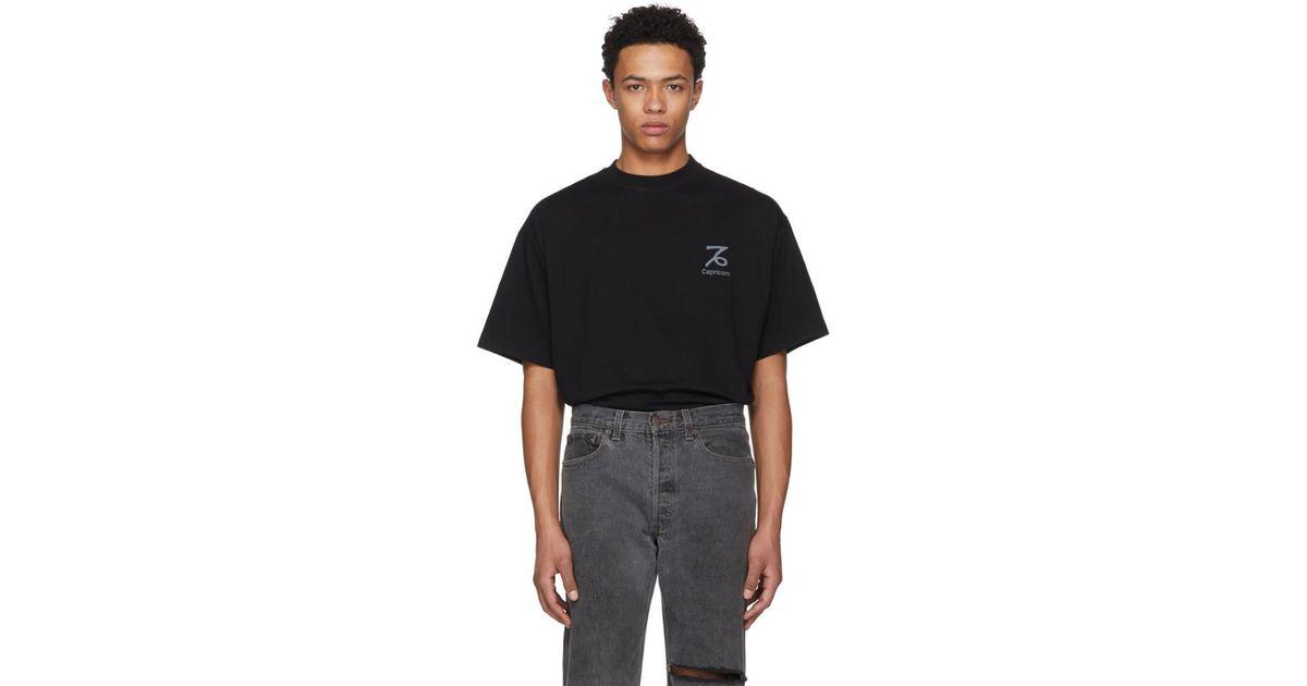 75d2d26c Lyst - Vetements Black Capricorn Horoscope T-shirt in Black for Men