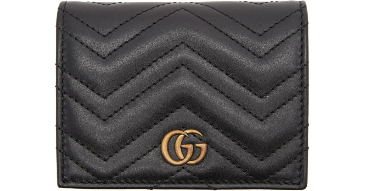 87f75cdeba237 Gucci Black Small GG Marmont Wallet