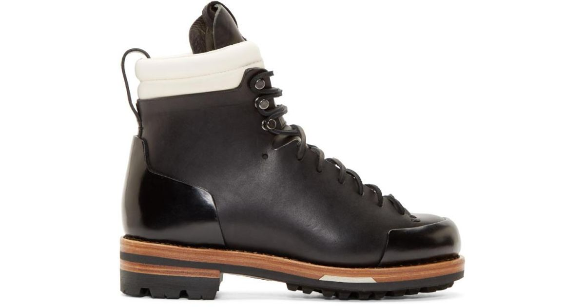 8706372dd6f Feit - Black Leather Arctic Hiker Boots for Men - Lyst