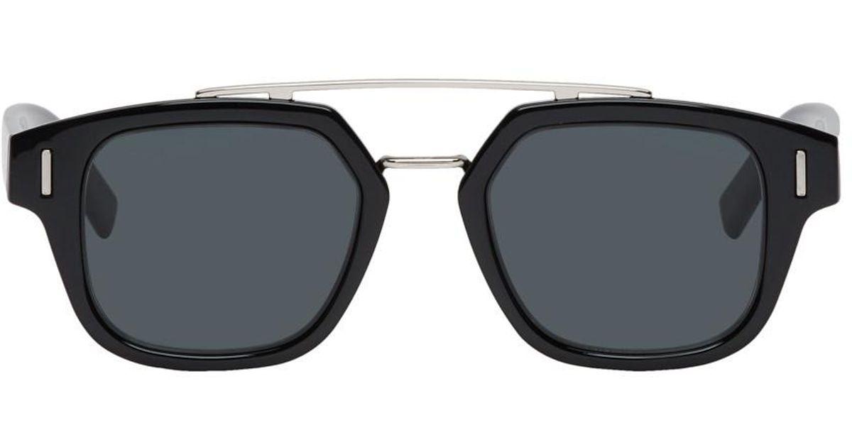d6fa9b91ebb Dior Homme Black Diorfraction1 Sunglasses in Black for Men - Lyst