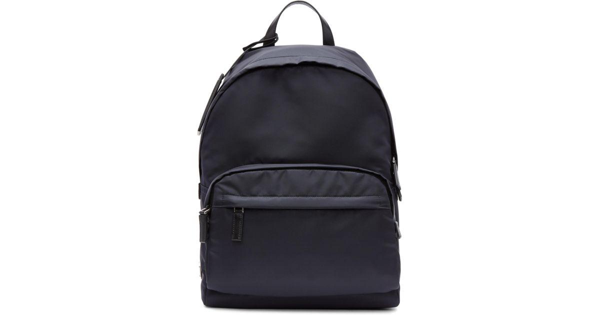 8f852b05e280 ... usa lyst prada navy mountain fabric backpack in blue for men 3e61b  a8a8e ...
