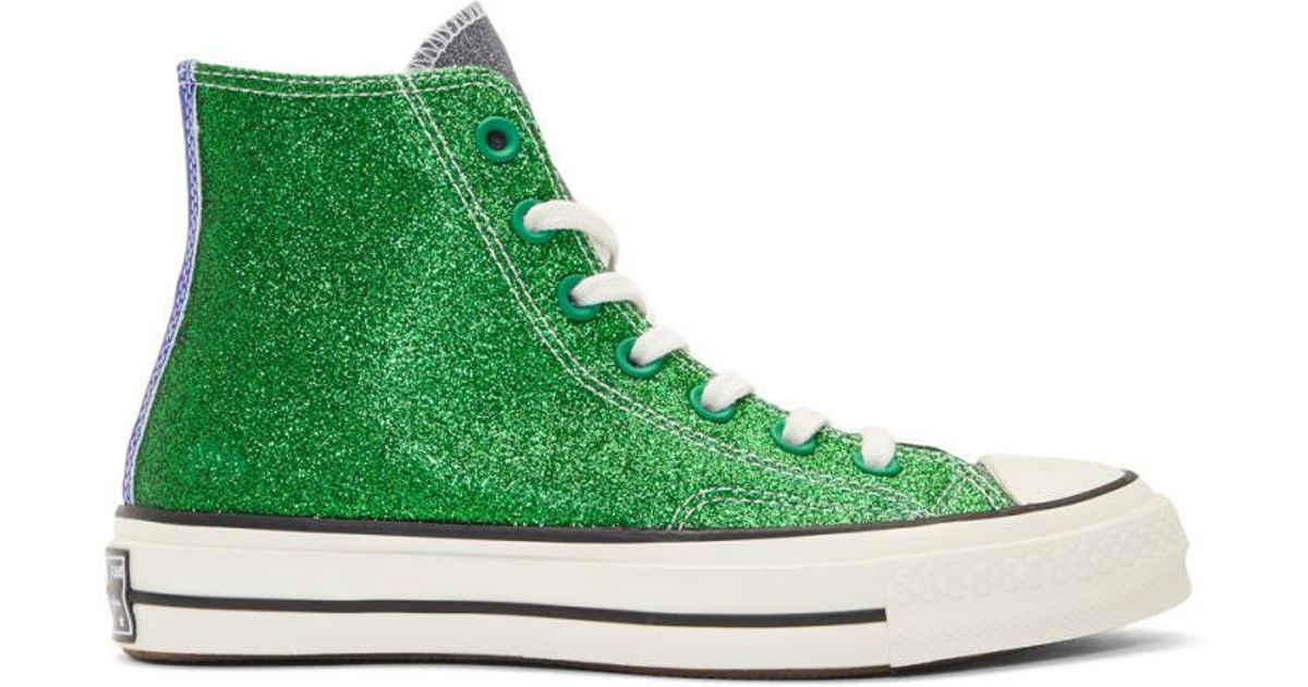 915cfc0092b Lyst - JW Anderson Green And Black Converse Edition Chuck Taylor All Star  70s High-top Sneakers in Green for Men