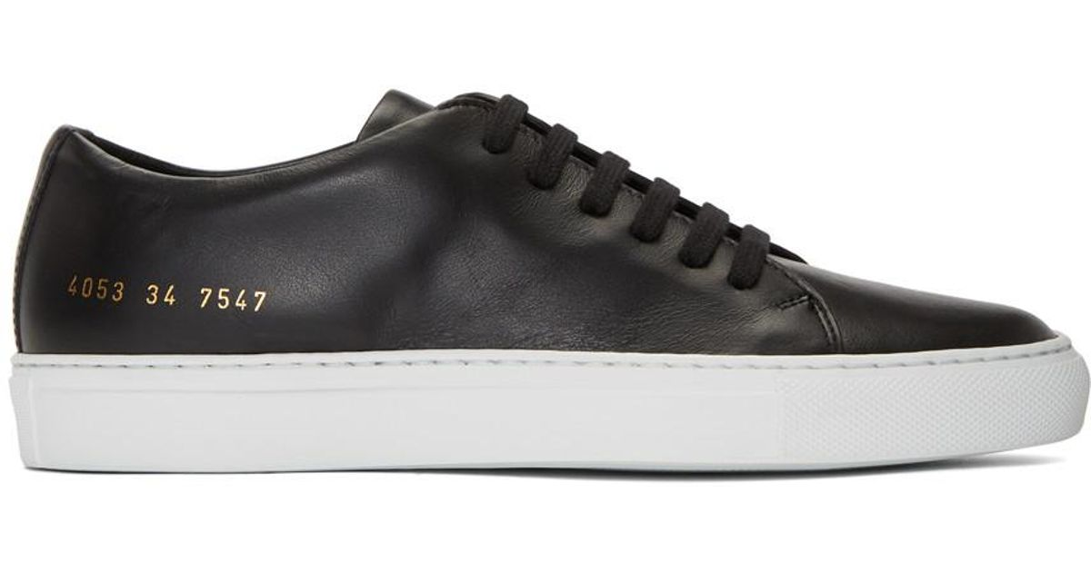 Black and White New Court Low Sneakers Common Projects Store Cheap Online Discount With Credit Card Fwr8YIWe