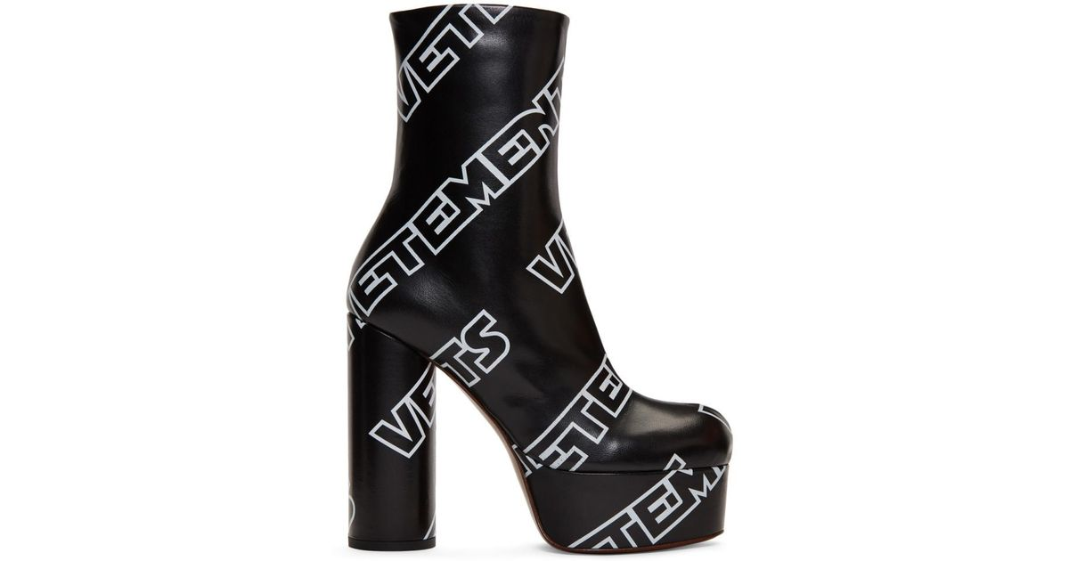 VetementsLogo Printed Platform Boots x9Apyi5Y